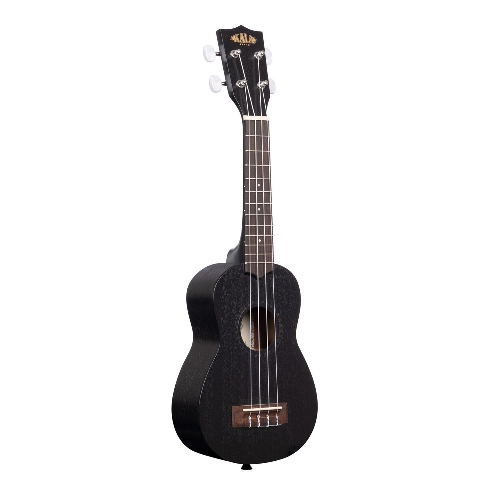 Kala Kala KA-15S-BLK Black Satin Mahogany Soprano Ukulele