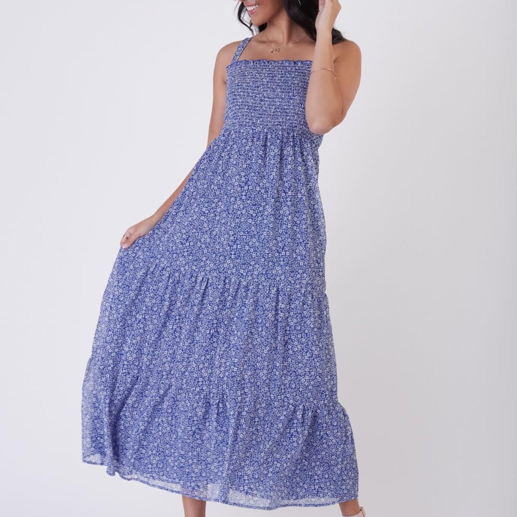 Dex SL Smocked Detail Tiered Maxi Dress