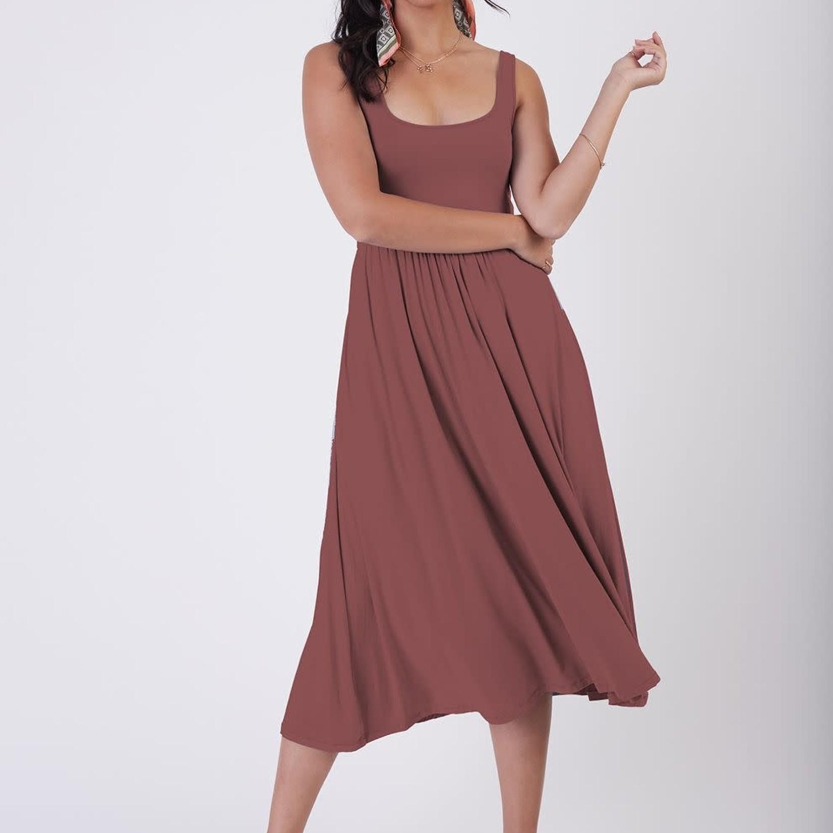 Dex SL Banded Waist Knit Midi Dress