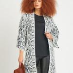Dex Kimono Slv Animal Sweater Cardigan