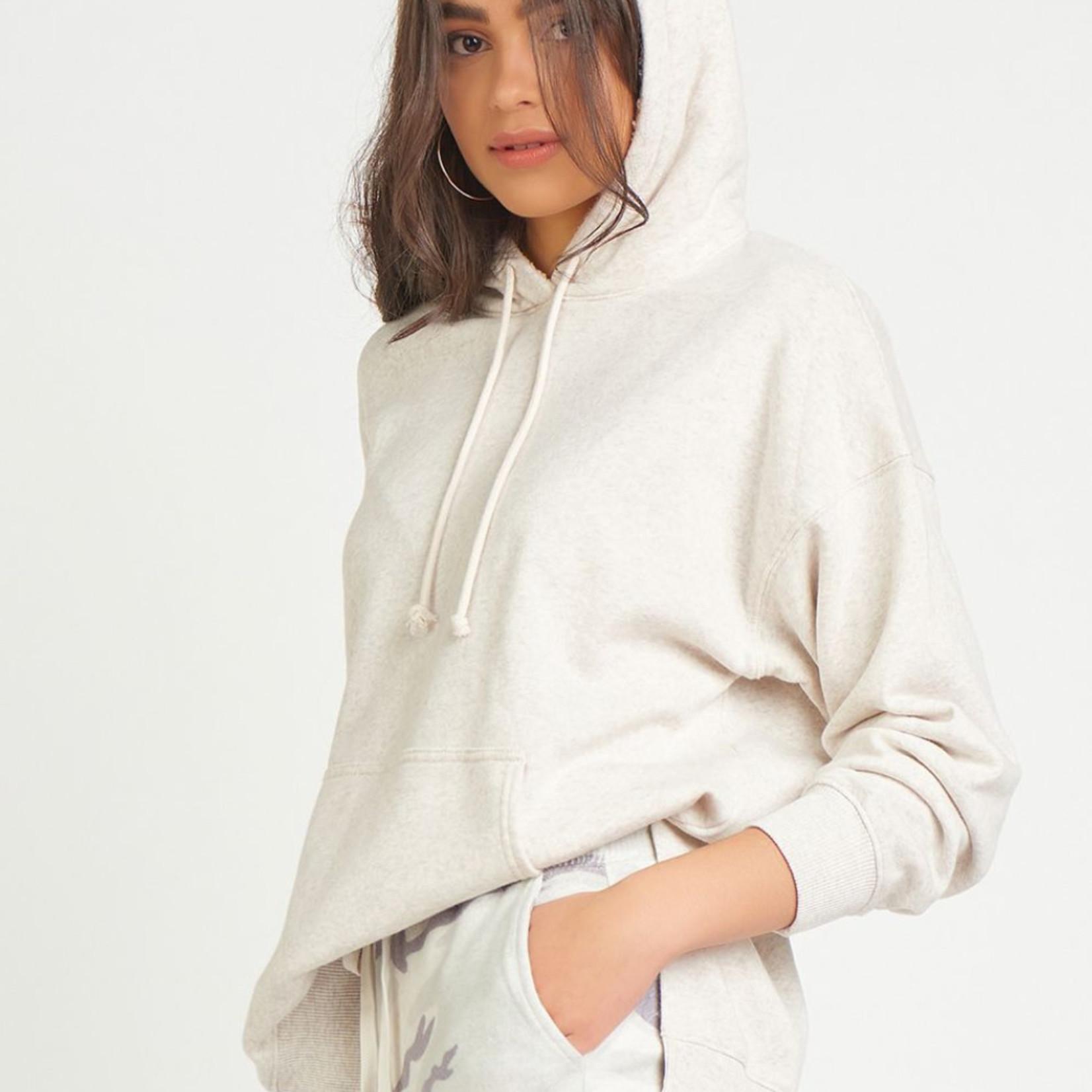 Dex OVERSIZED SHERPA LINED HOODIE DEX CLOTHING