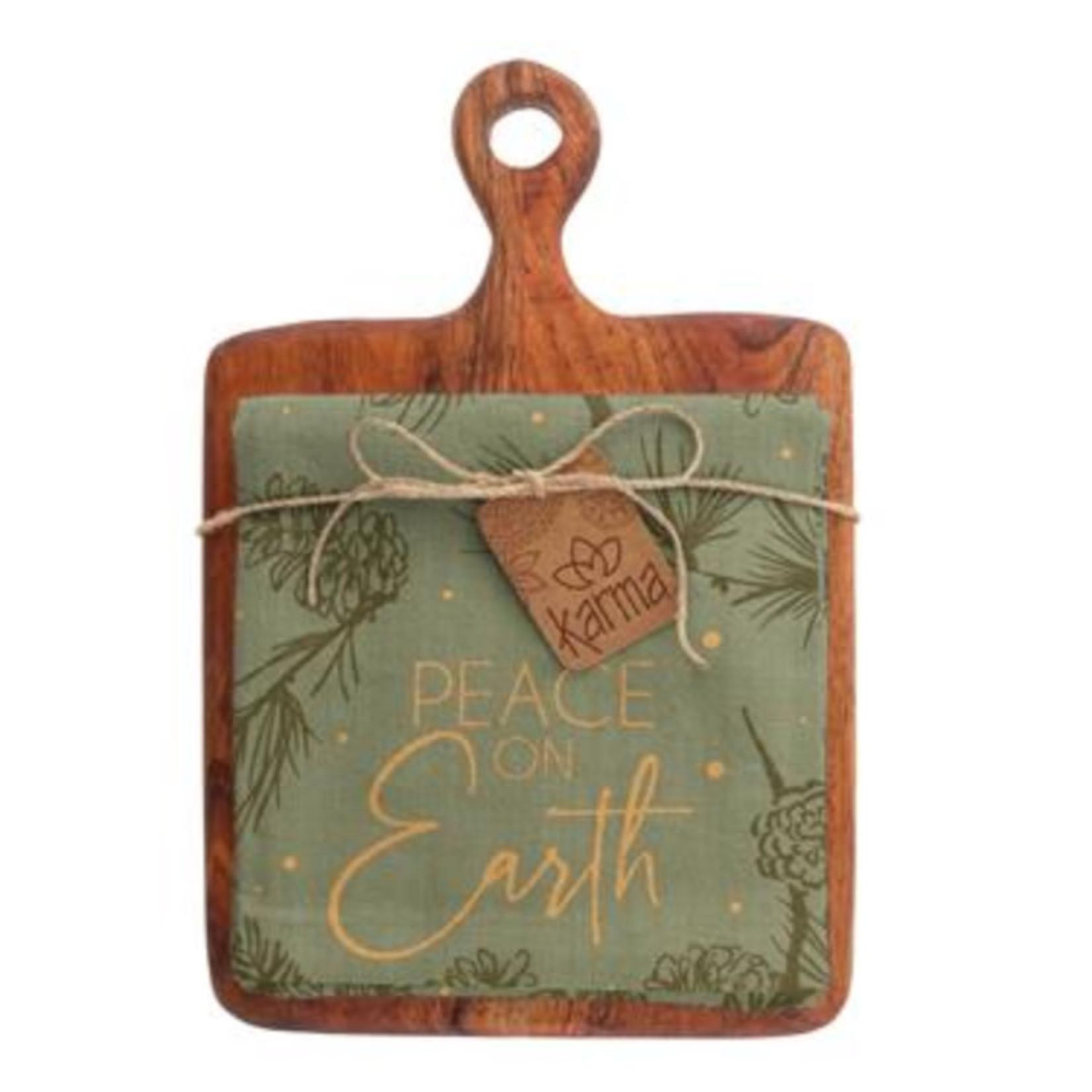 Karma Holiday cutting board/ tea towel