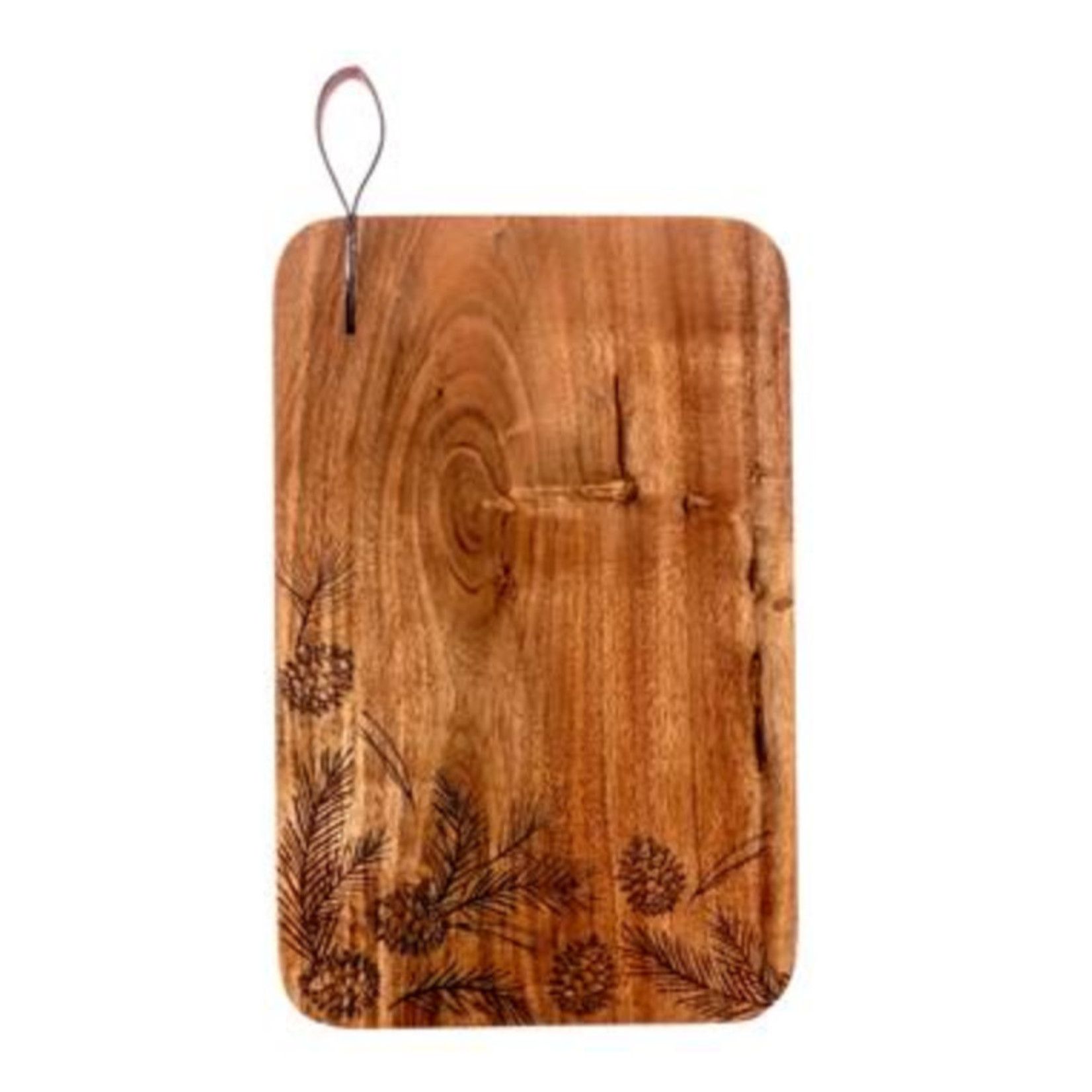 Karma Holiday Etched Cutting Board Pinecone