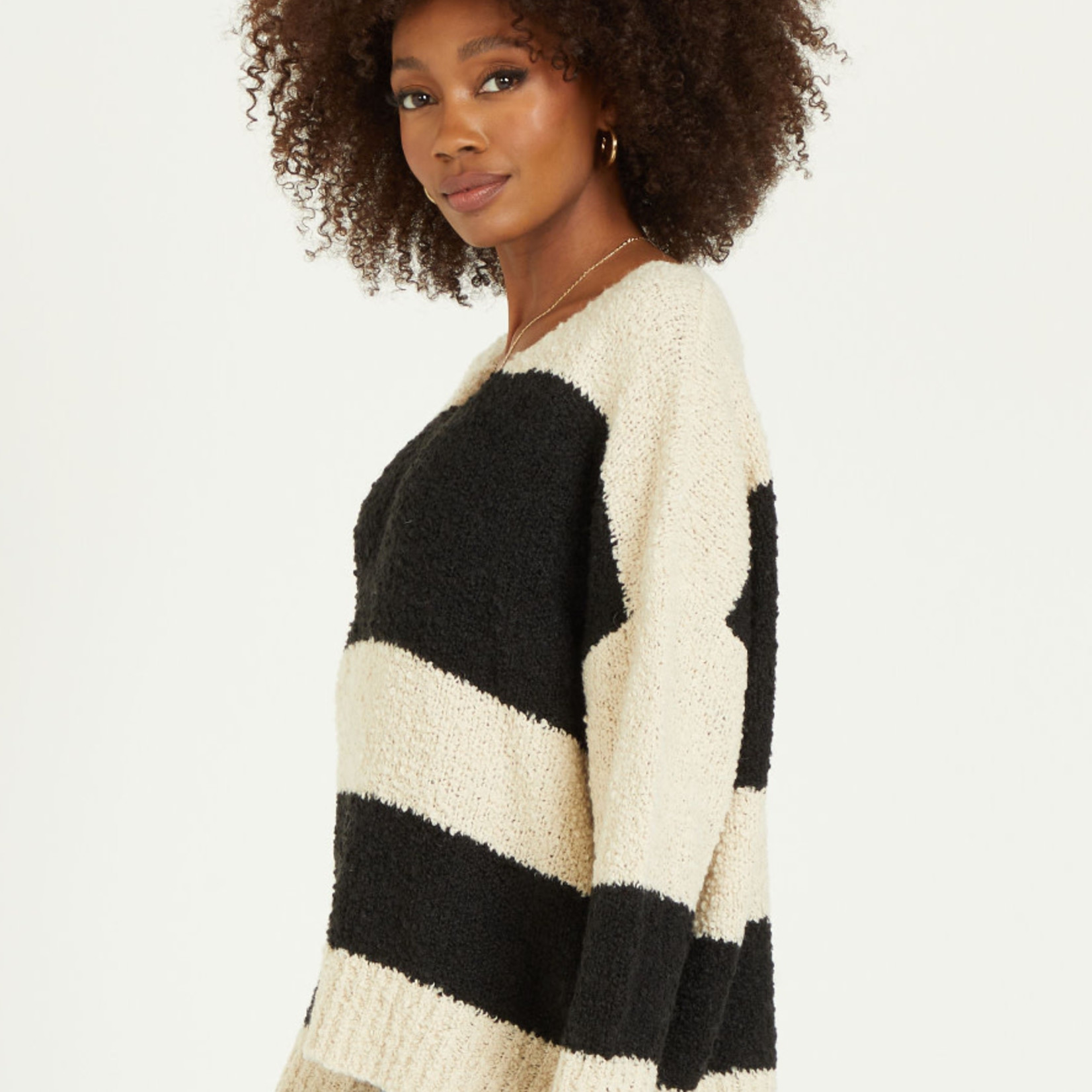 Dear John V-Neck Relaxed LS Sweater