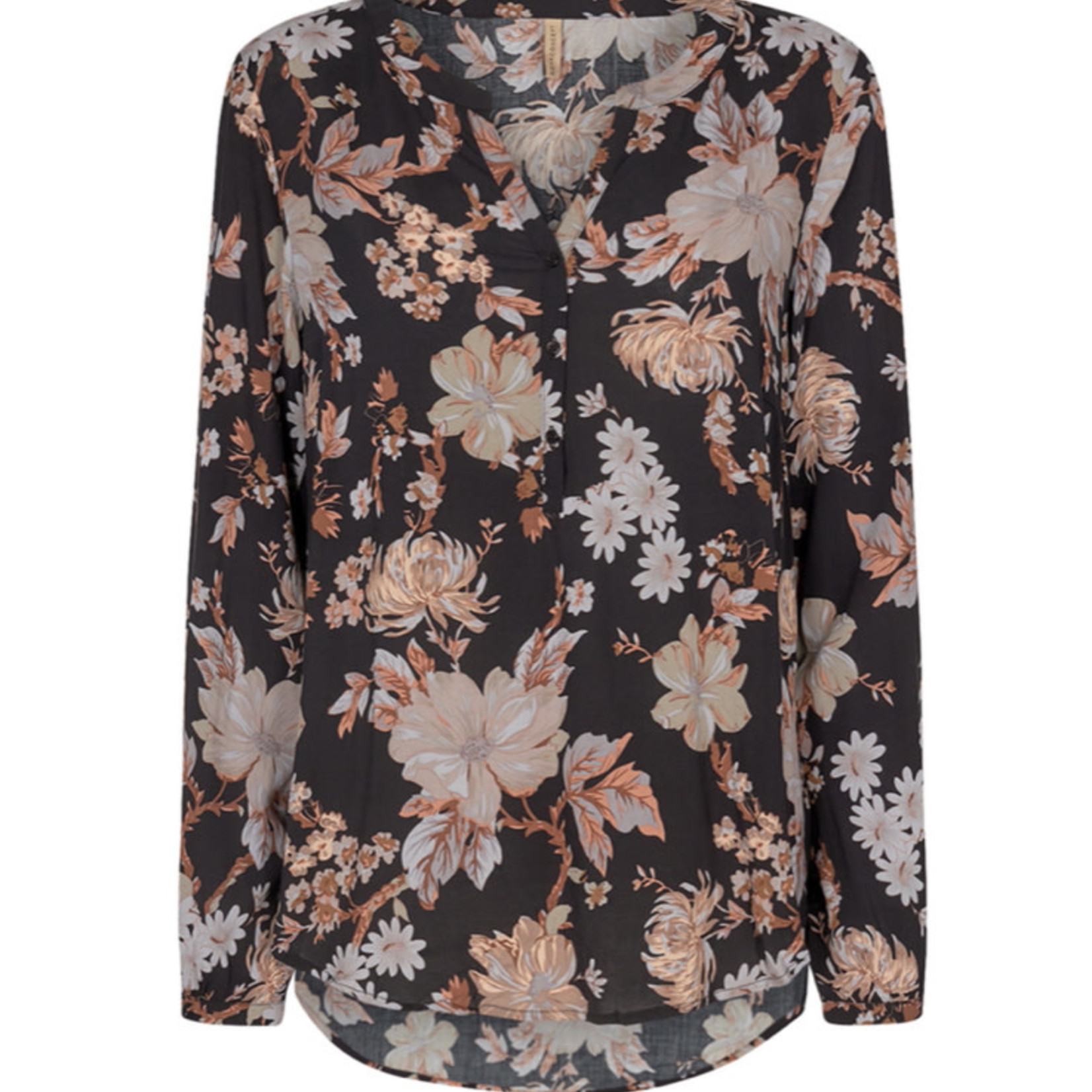 SoyaConcept LS Floral Button Down