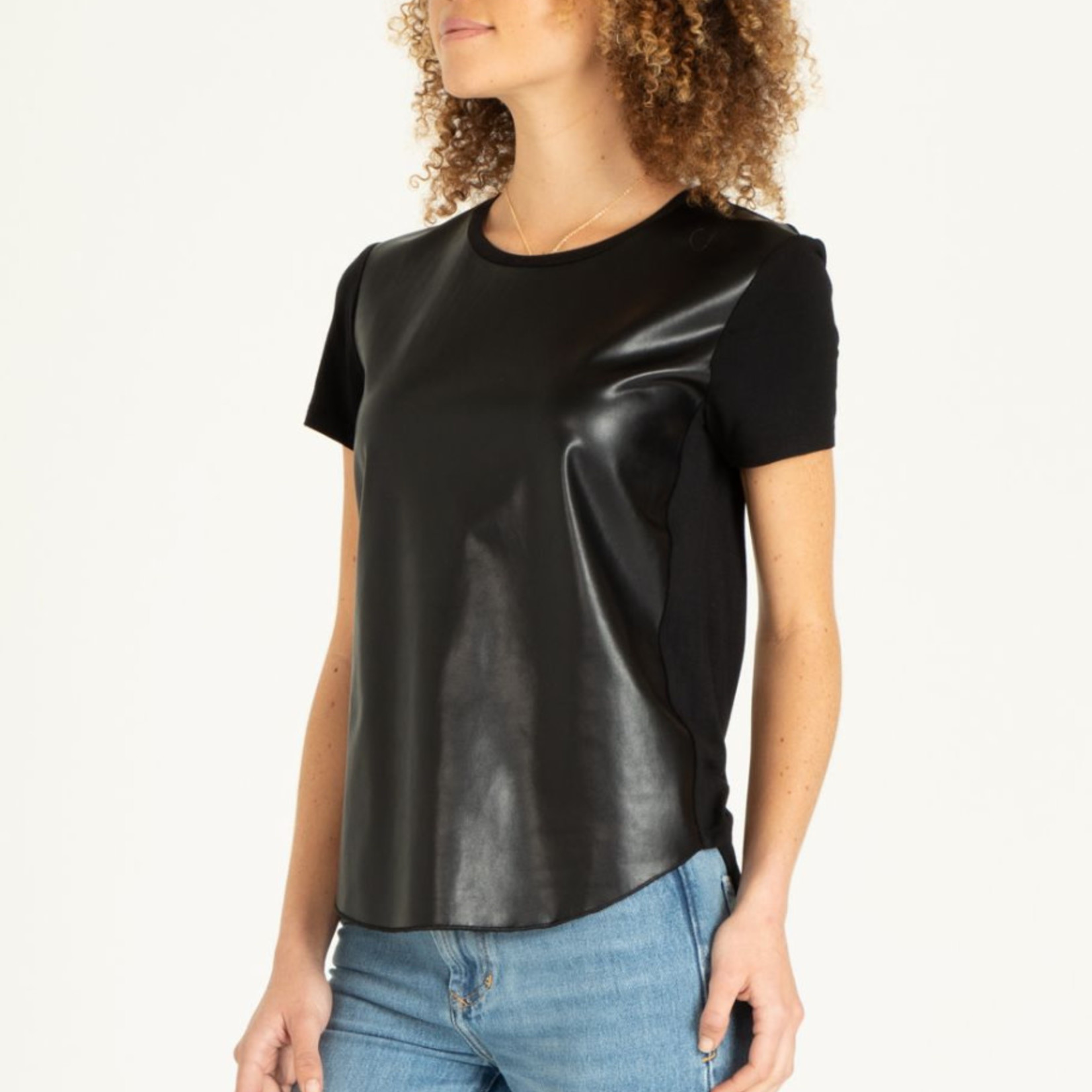Another love Pleather Front Top w SS