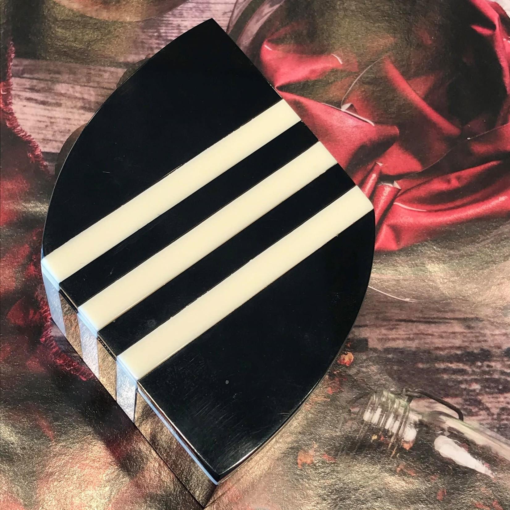 Finn Design Finn Design- Aurora PM Striped Box Black (APMSBB)