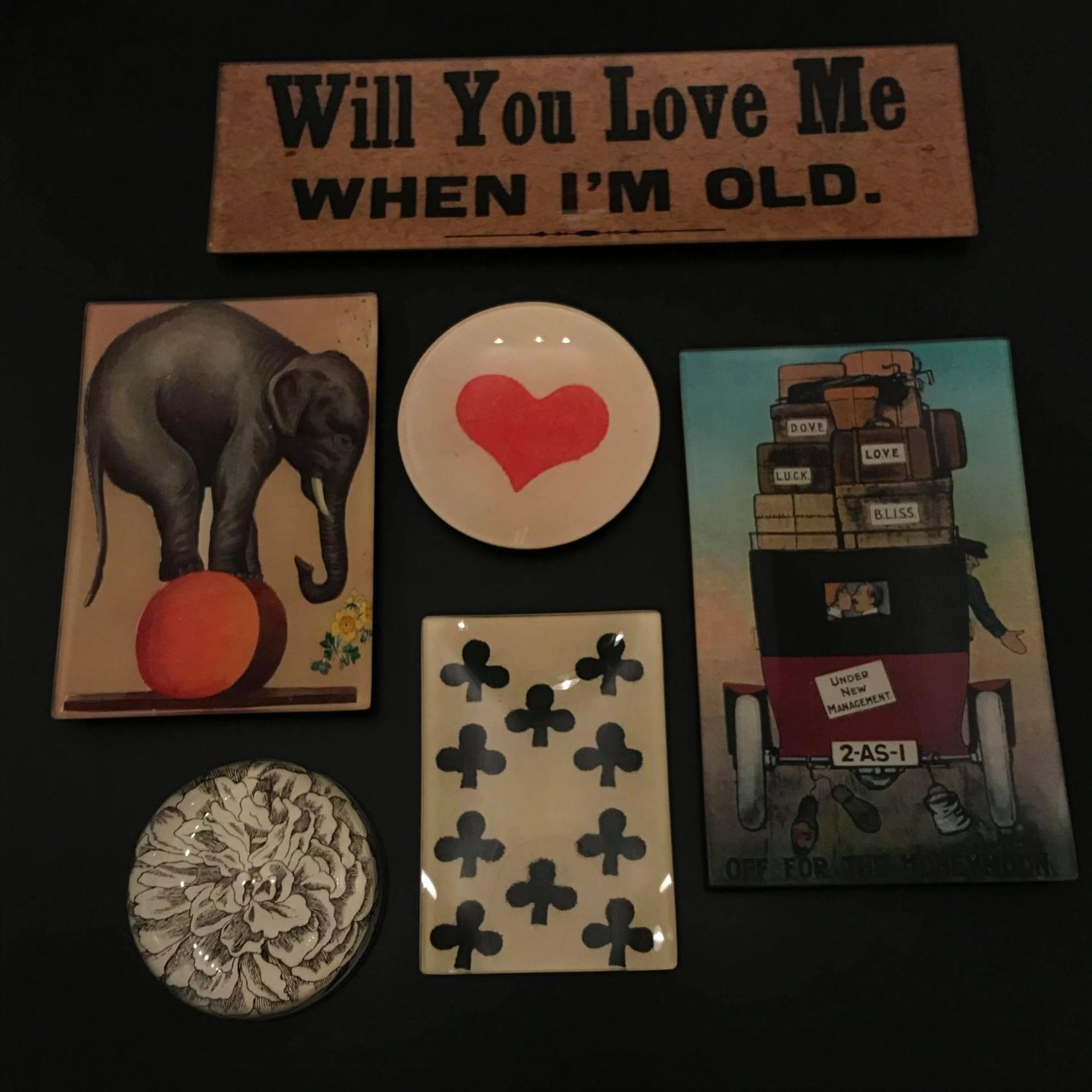 "John Derian John Derian Honeymoon 5 x 8"" Rectangle Tray"
