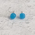 Pebble Stud Sterling - Blue