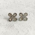 Himatsingka Jewelry Himatsingka Jewelry Rosa 4- Petal Diamond Earrings