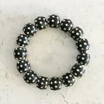 Himatsingka Jewelry Himatsingka Jewelry Speckled Wood Bead Bracelet