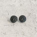 Himatsingka Jewelry Himatsingka Jewelry Myro Pinwheel Silver Earring- Patina