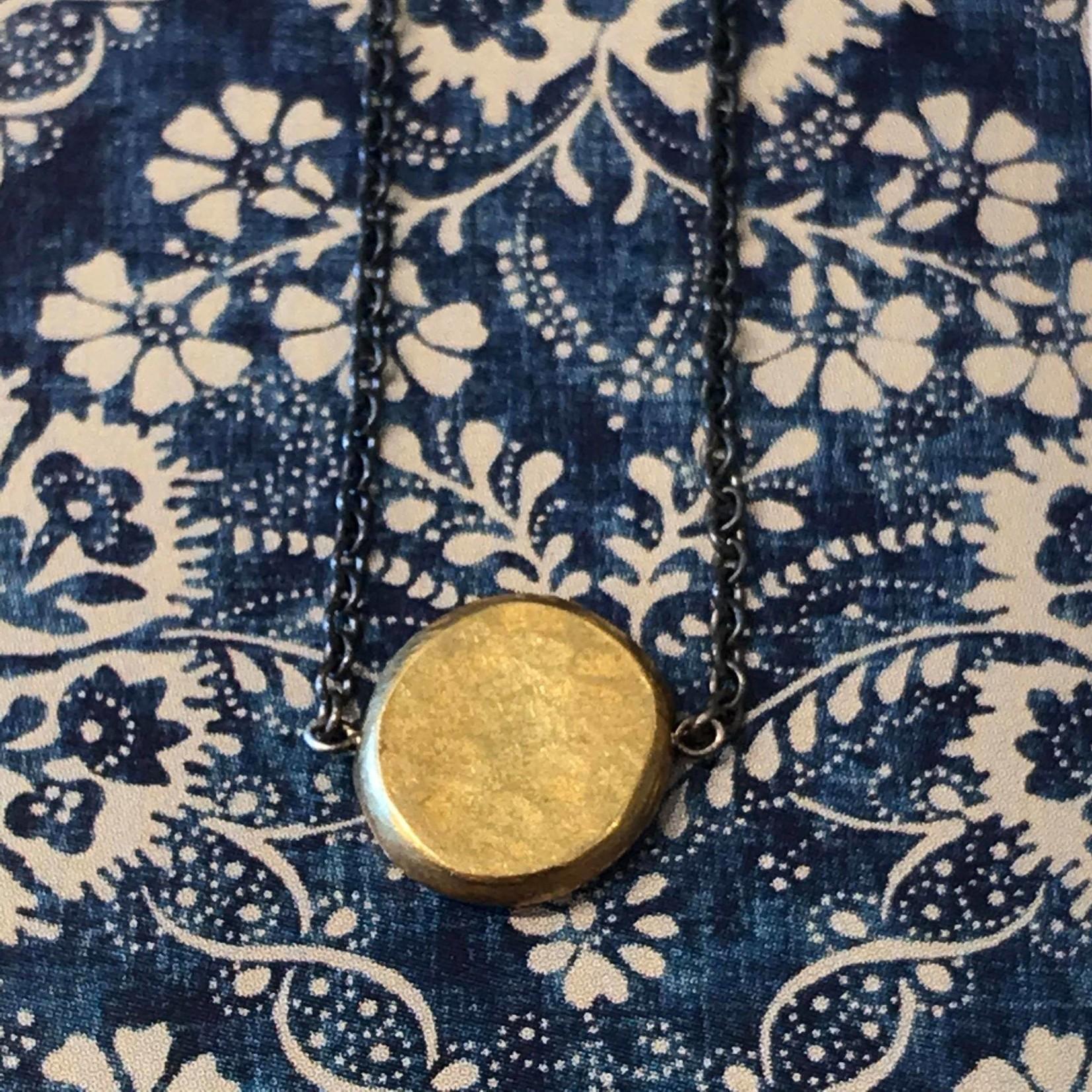 Himatsingka Jewelry Himatsingka Jewelry Gold Nugget Pendant Oxidized
