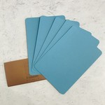 Le Typographe Le Typographe Rounded Corner Cards- Celeste (Blue)