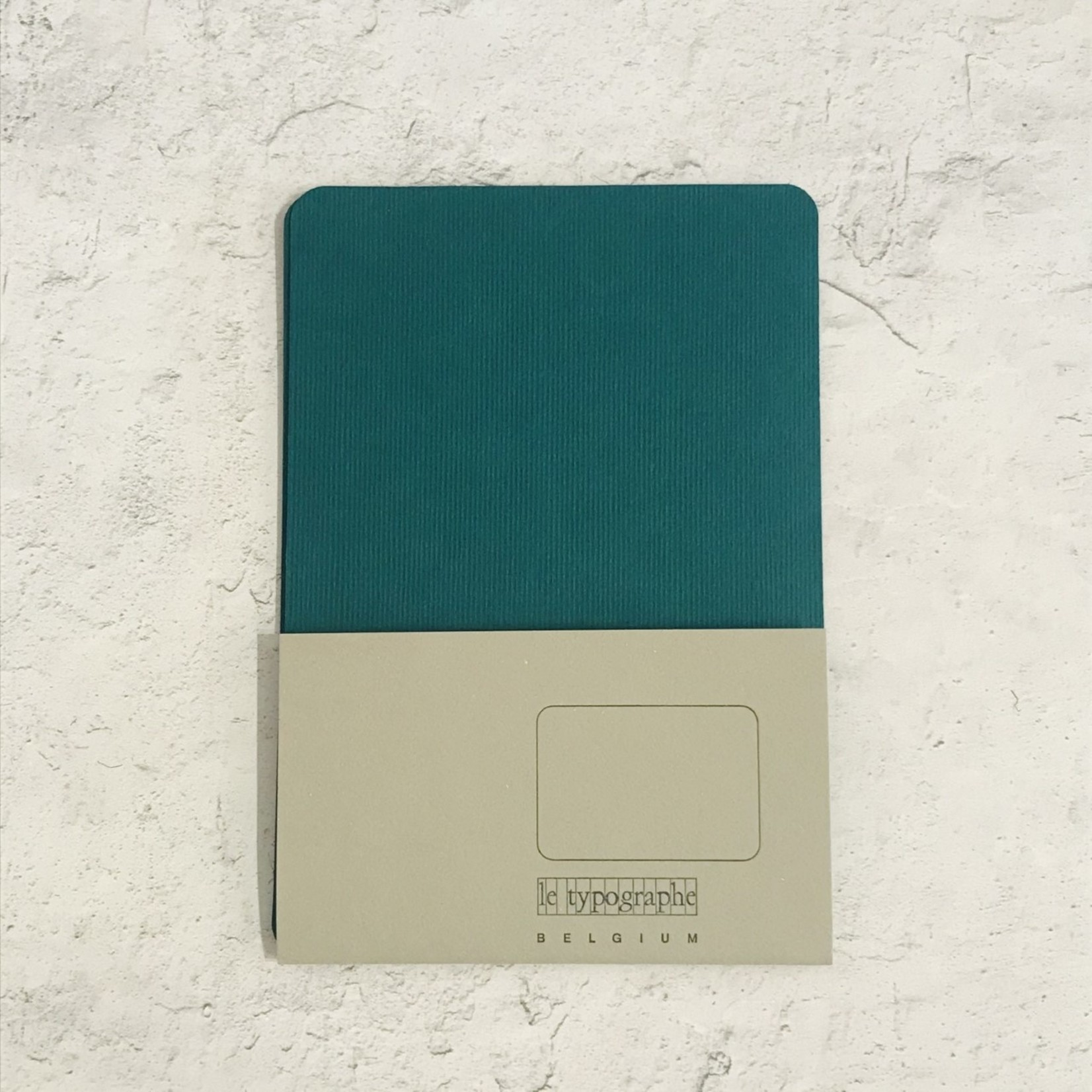 Le Typographe Le Typographe Rounded Corner Cards- Forest Green