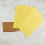 Le Typographe Le Typographe Rounded Corner Cards- Naples (Yellow)