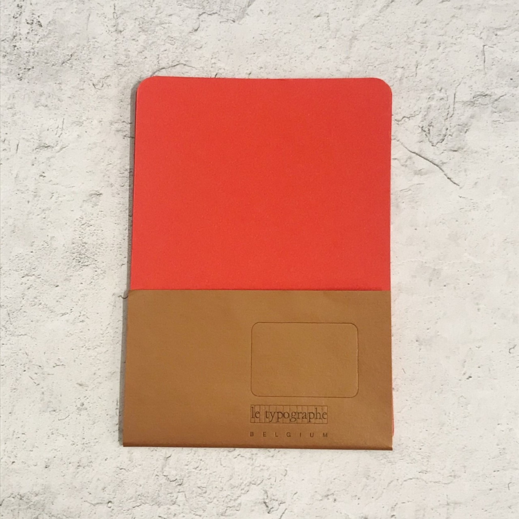 Le Typographe Le Typographe Rounded Corner Cards- Rosso