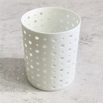 Shishi Porcelain Round Diagonal Holes Votive