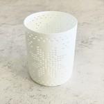 Shishi Porcelain T-Light Thin Star Cut Votive