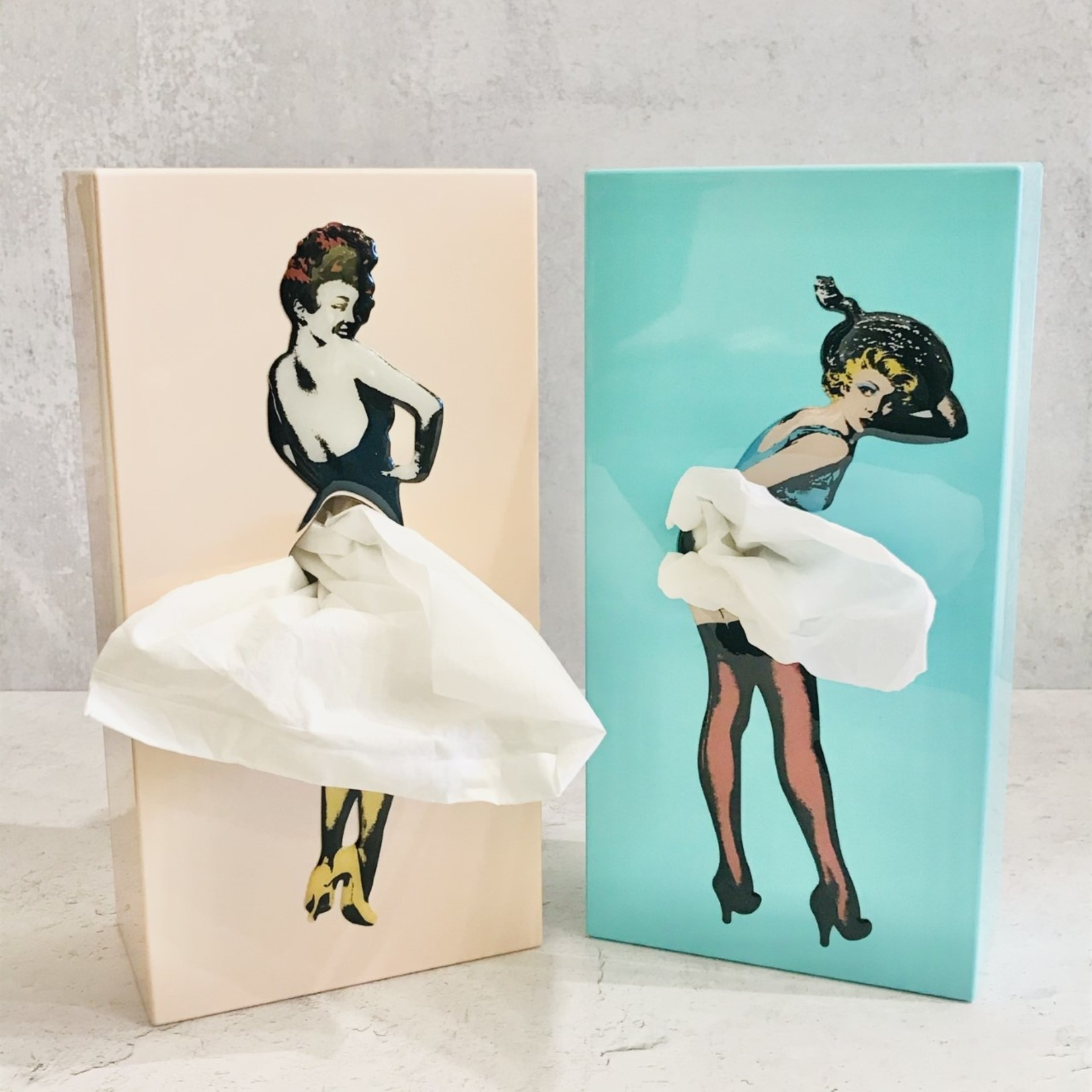 Flying Skirt Tissue Box - Pink