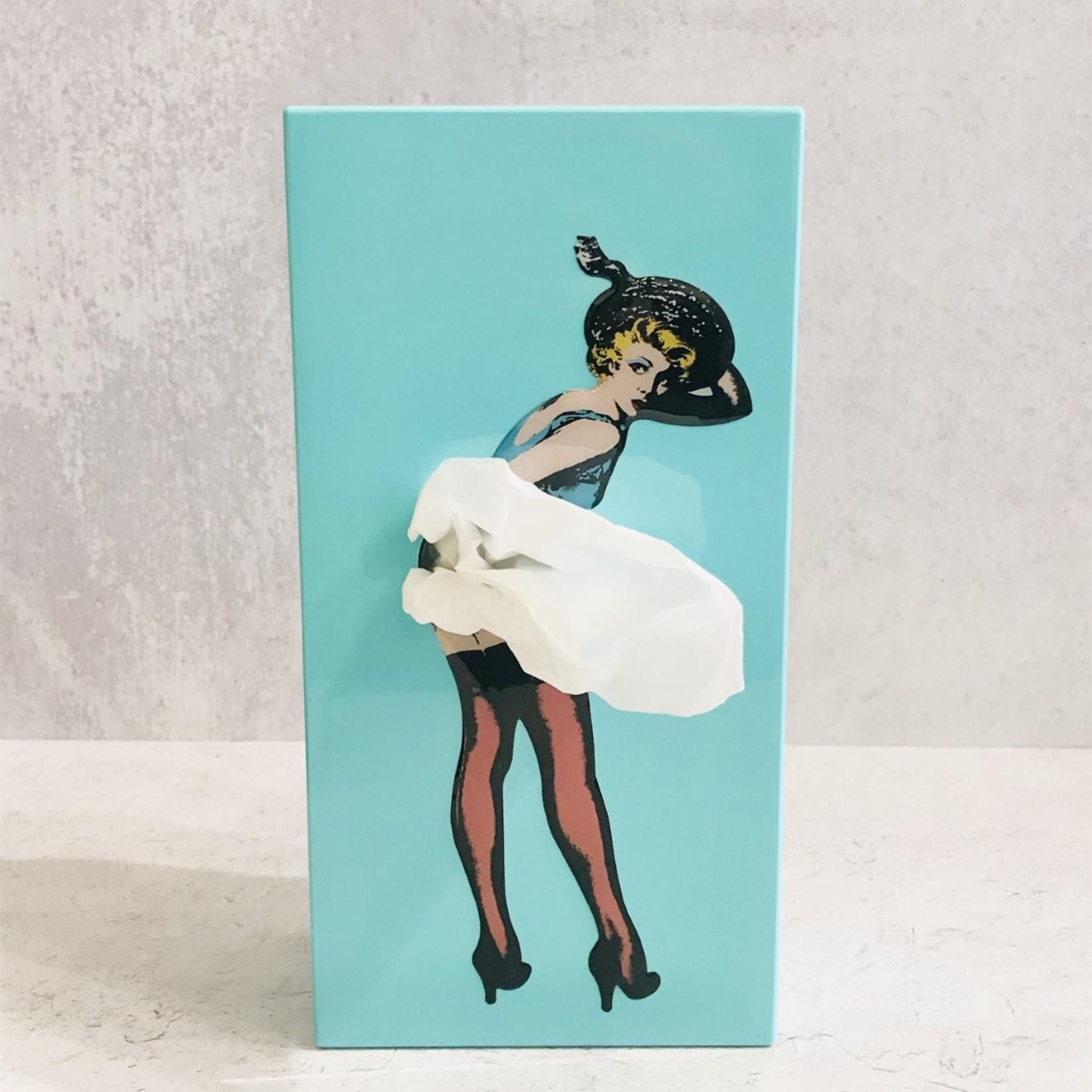 Flying Skirt Tissue Box - Mint