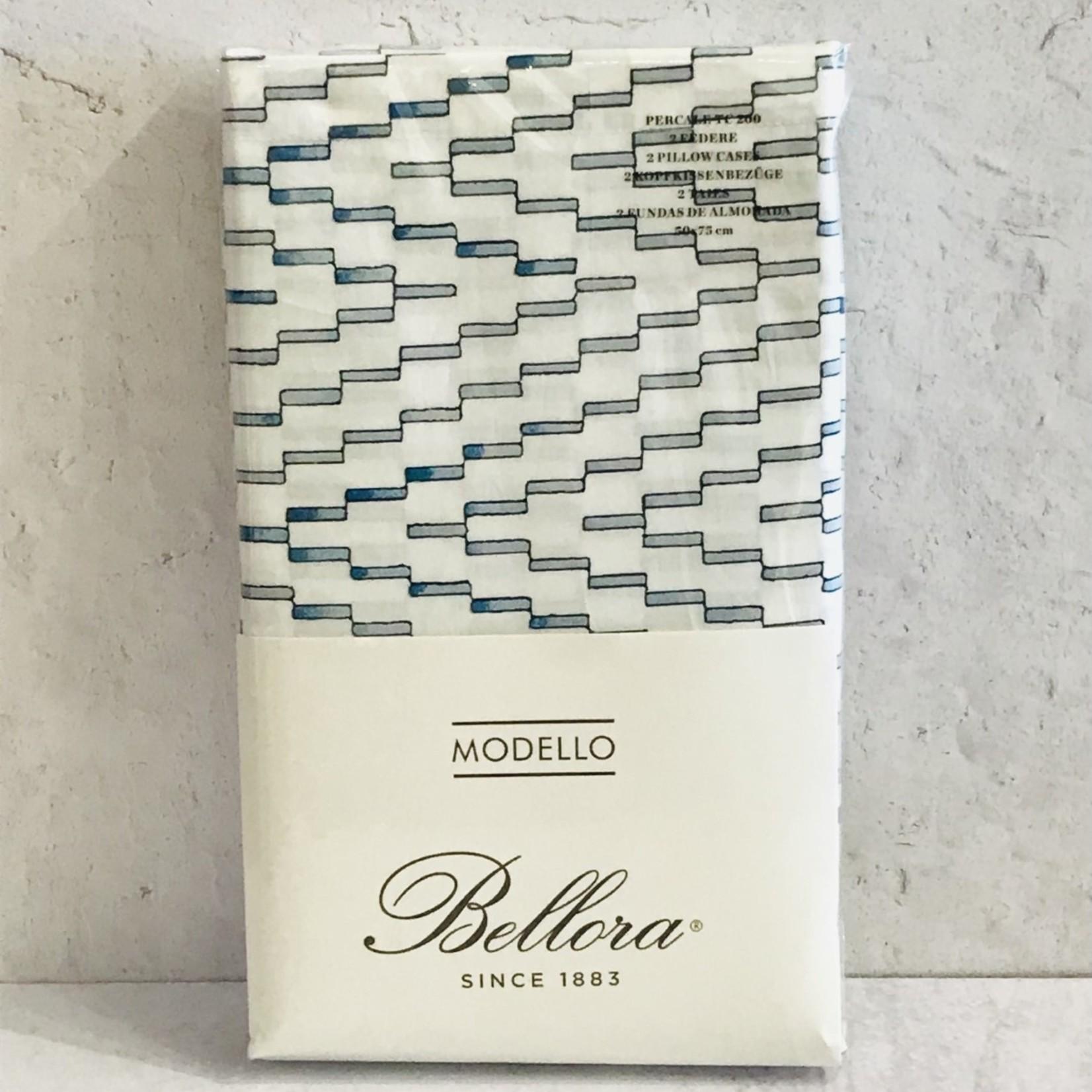 Bellora Bellora - Light Teal Rectangles Pillowcase (Pair)