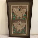 Market Folk Owl Painting Double Image