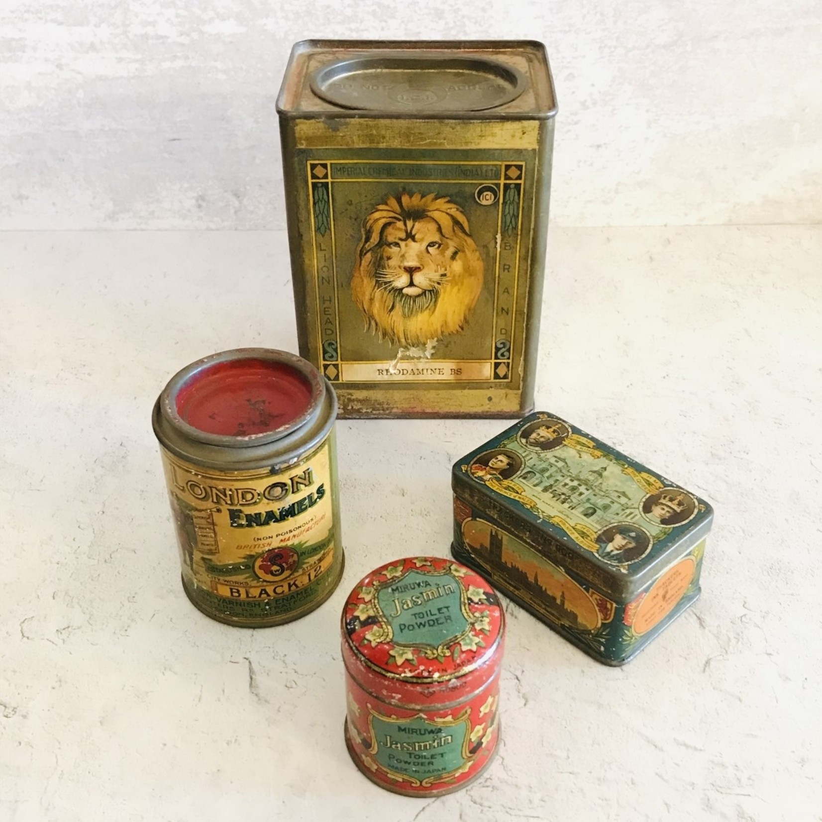 Vintage London Enamel Container