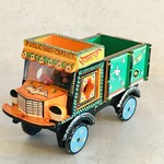 Market Wooden Toy Truck Orange/Green