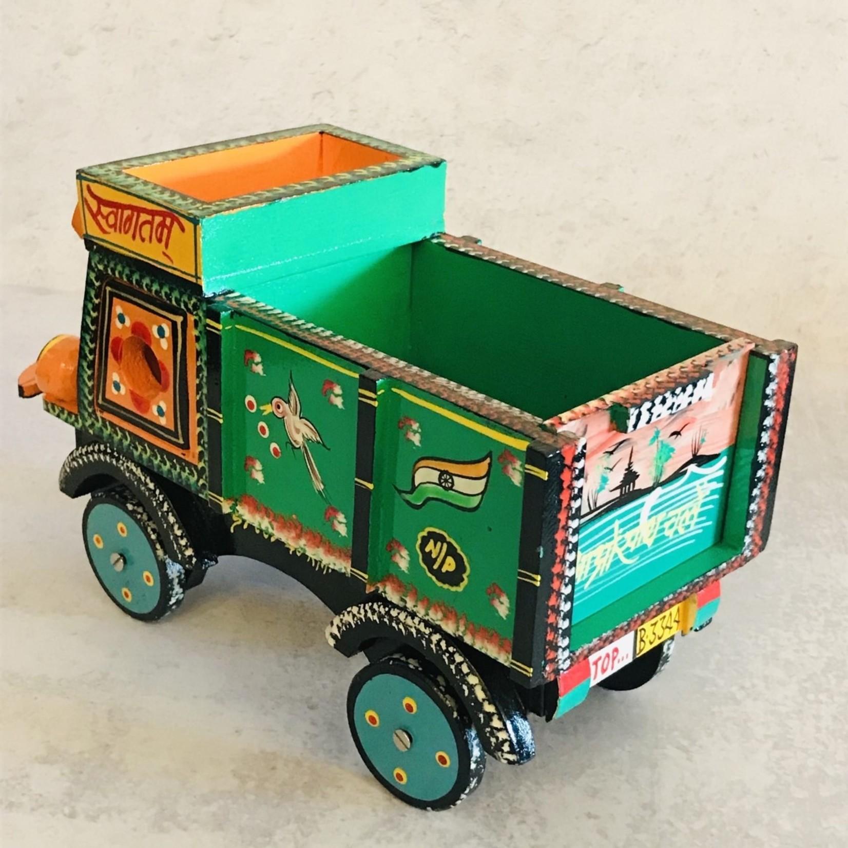 Market Wooden Toy Truck Orange/Green