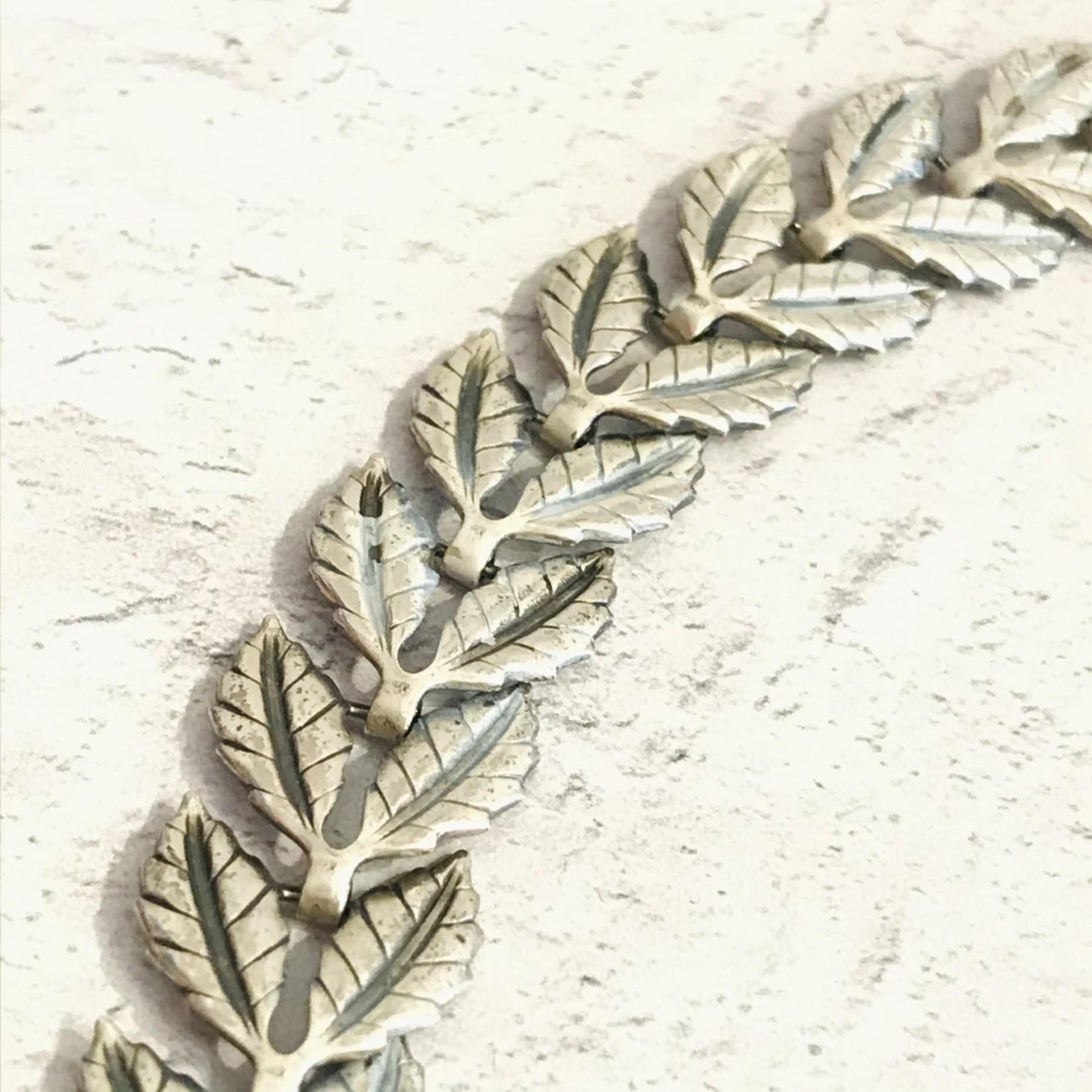 Vintage 2-Leaf Sterling Silver Necklace