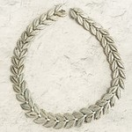 Vintage 2-Leaf Sterling Silver Necklace
