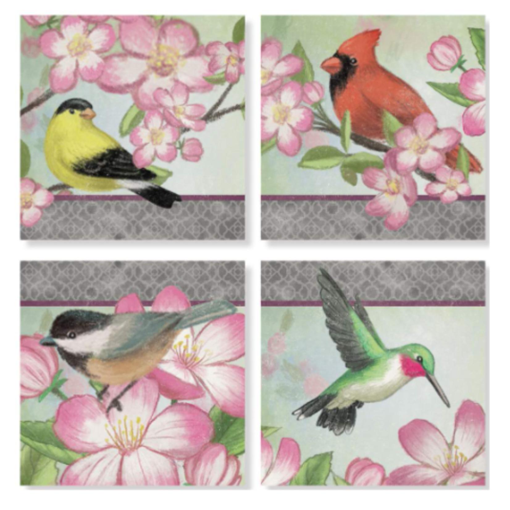 "Bird Coasters - 4"" Square"