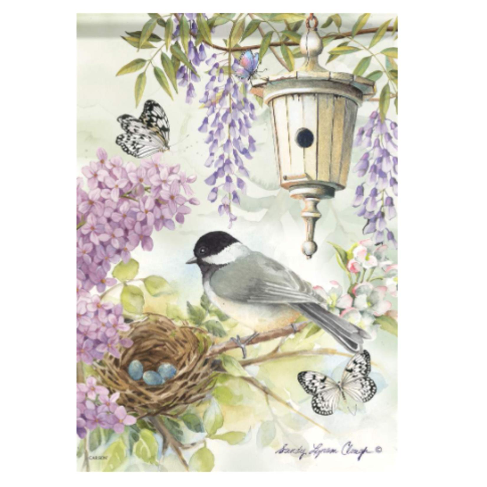 Garden Flag - Chickadee Birdsong