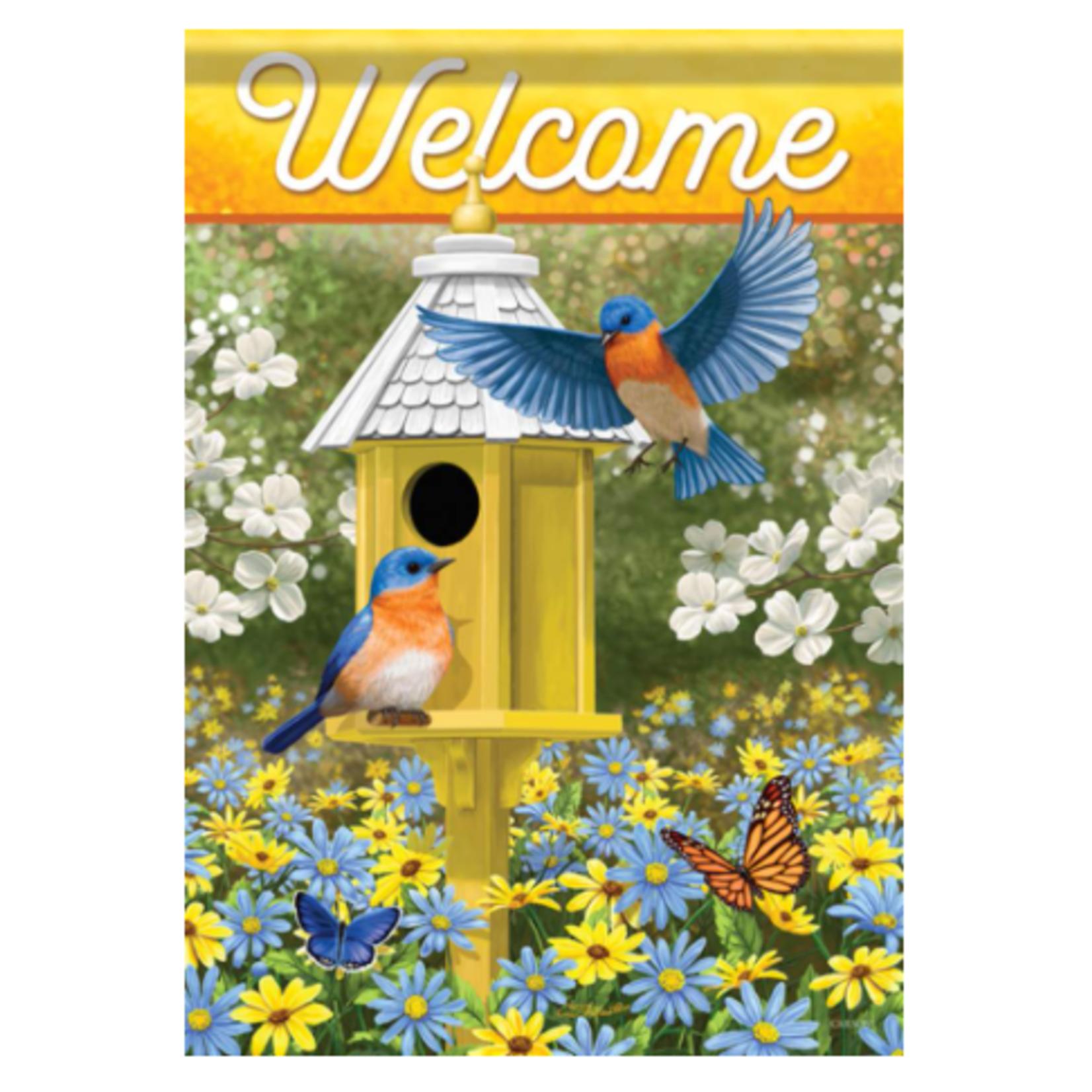 Garden Flag - Delightful Bluebird