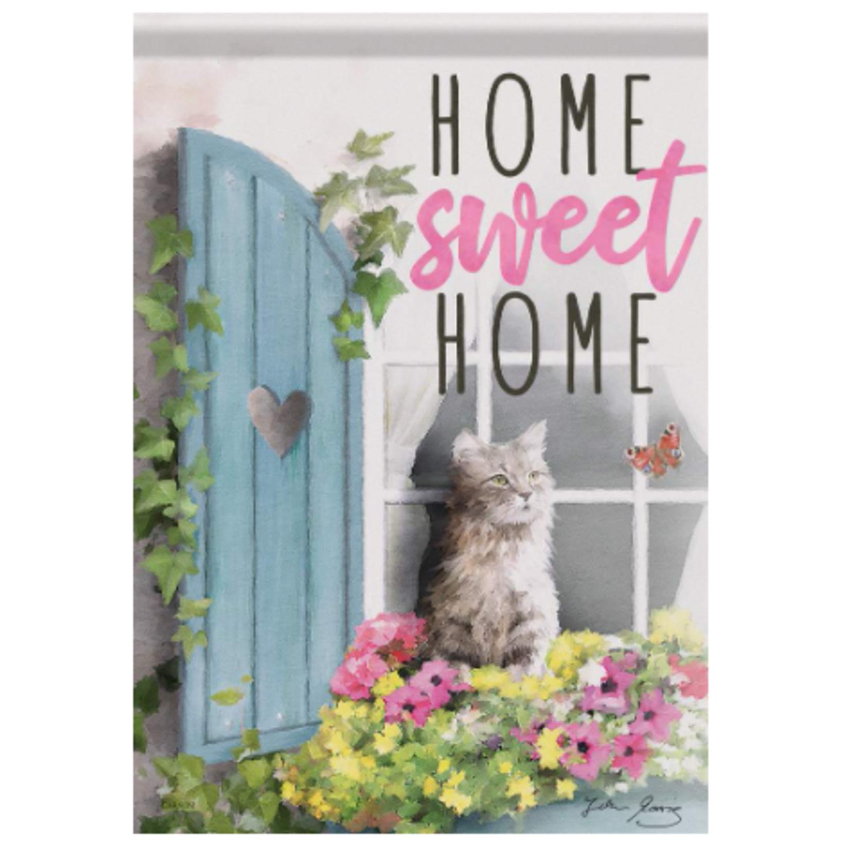 Garden Flag - Flower Box Cat