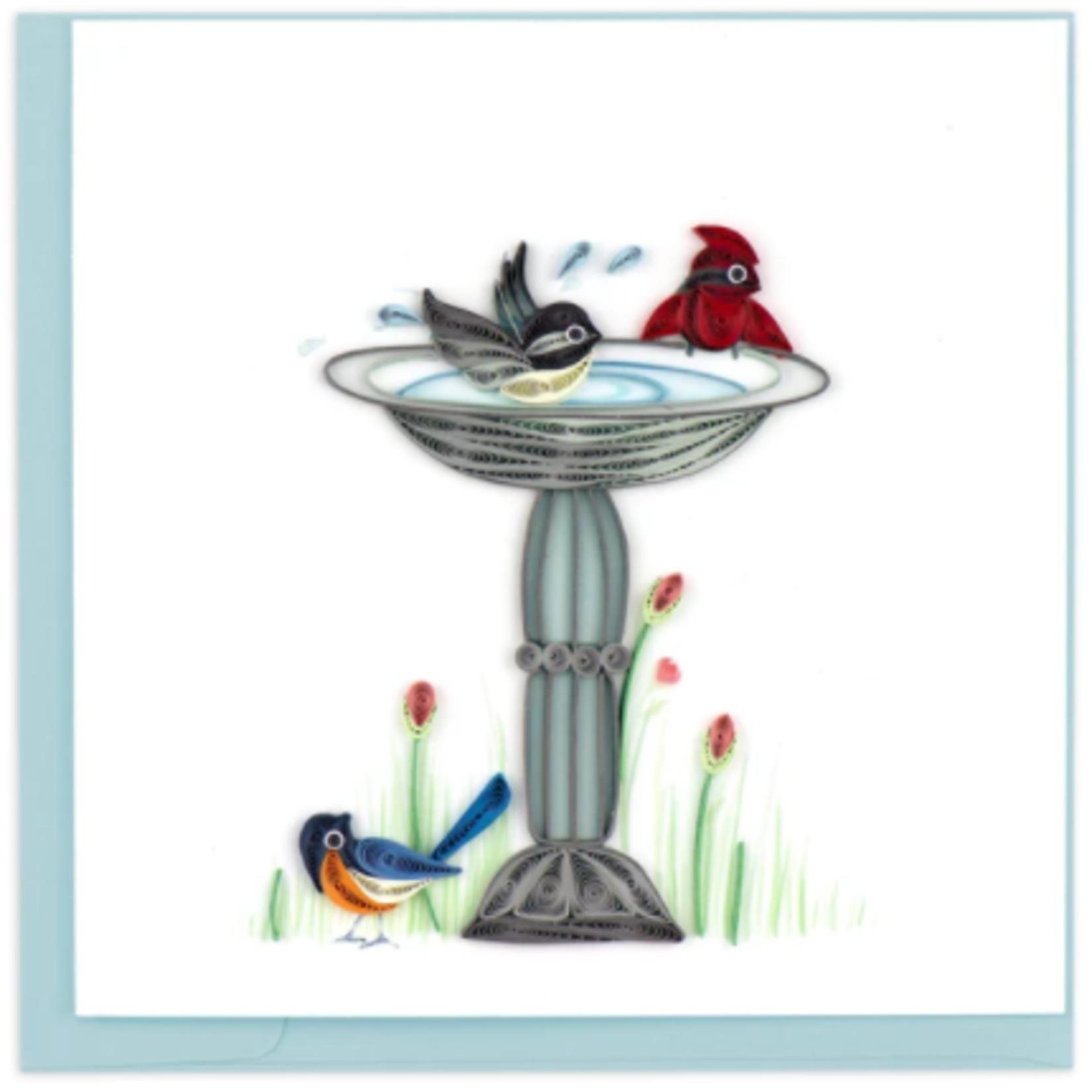 Quilling Card - Bird Bath
