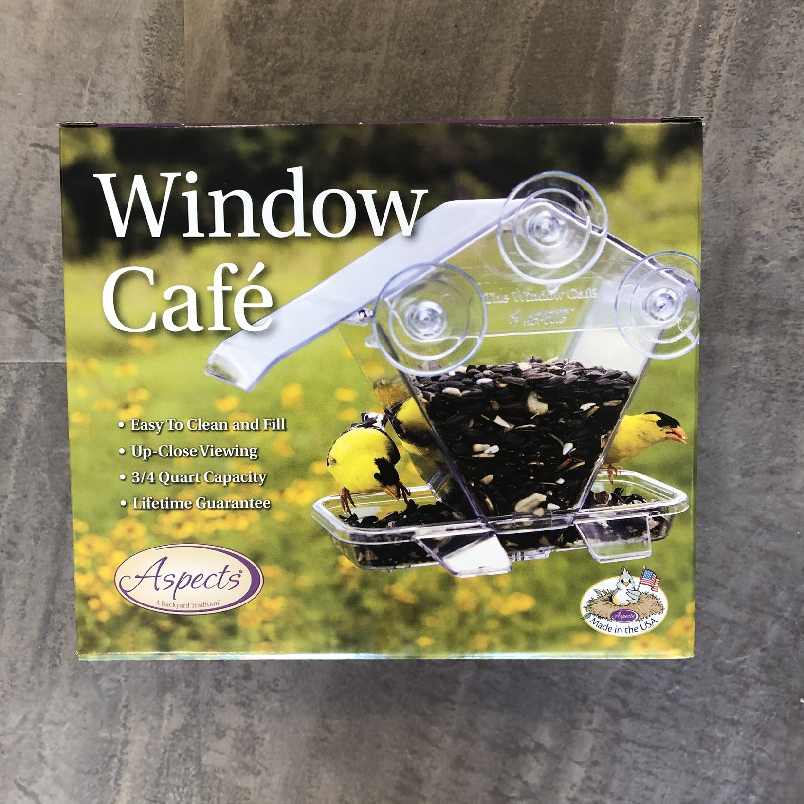Aspects Window Cafe Feeder