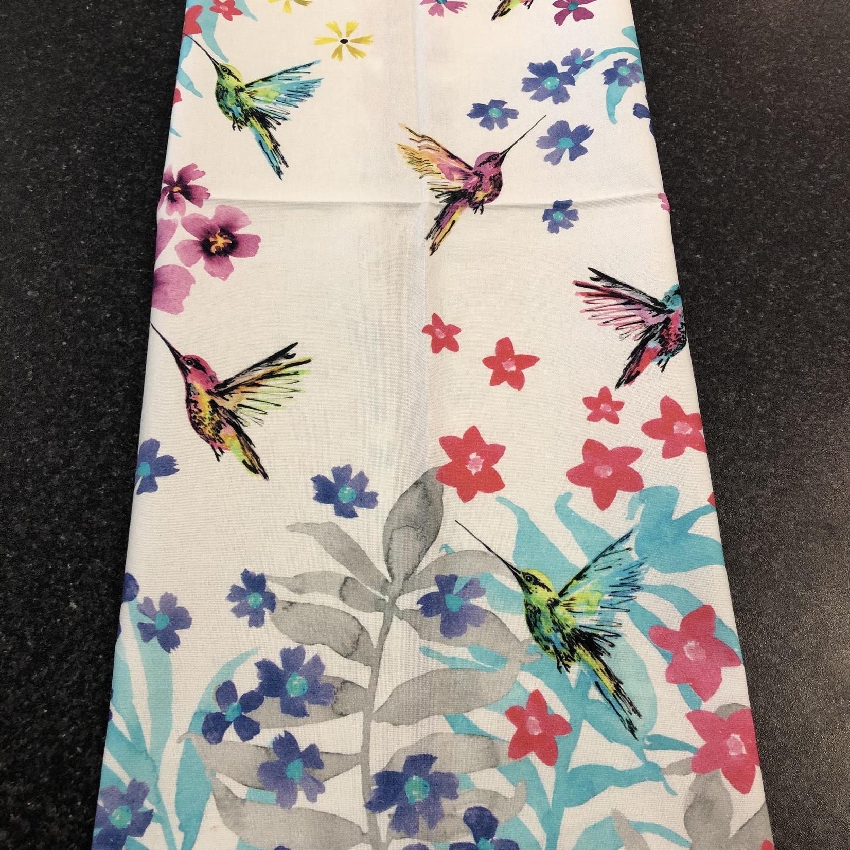 Tea Towel - Hummingbird Garden