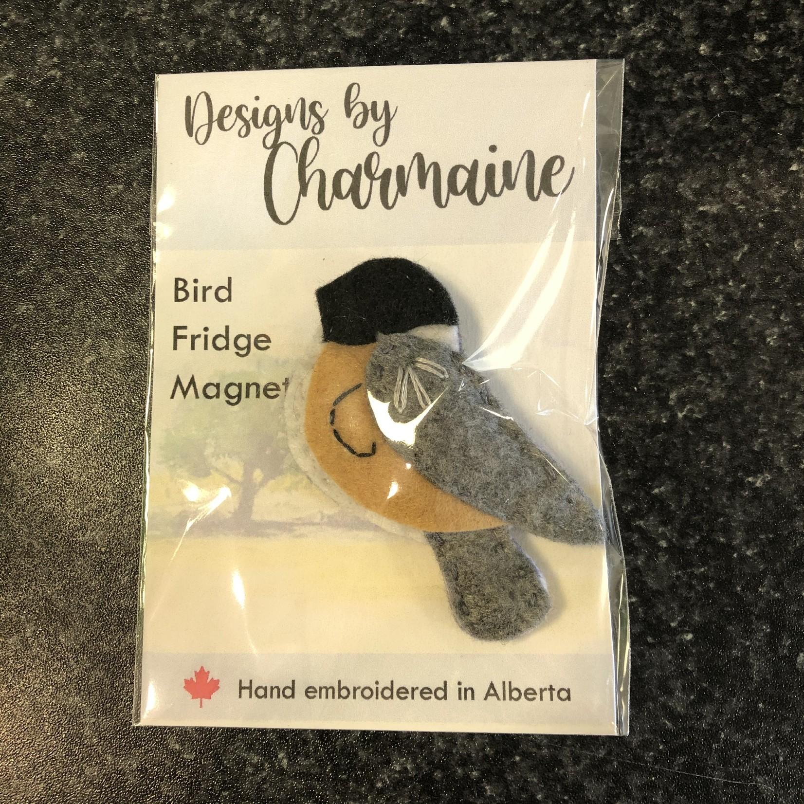Embroidered Bird Magnet