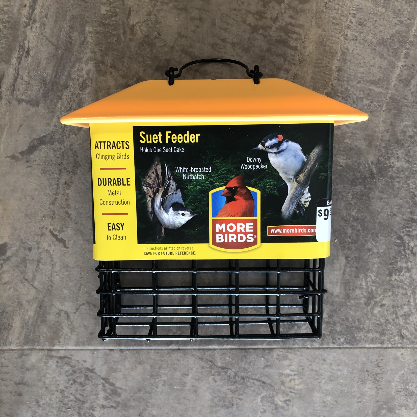 Single Suet Cage with Weather Guard