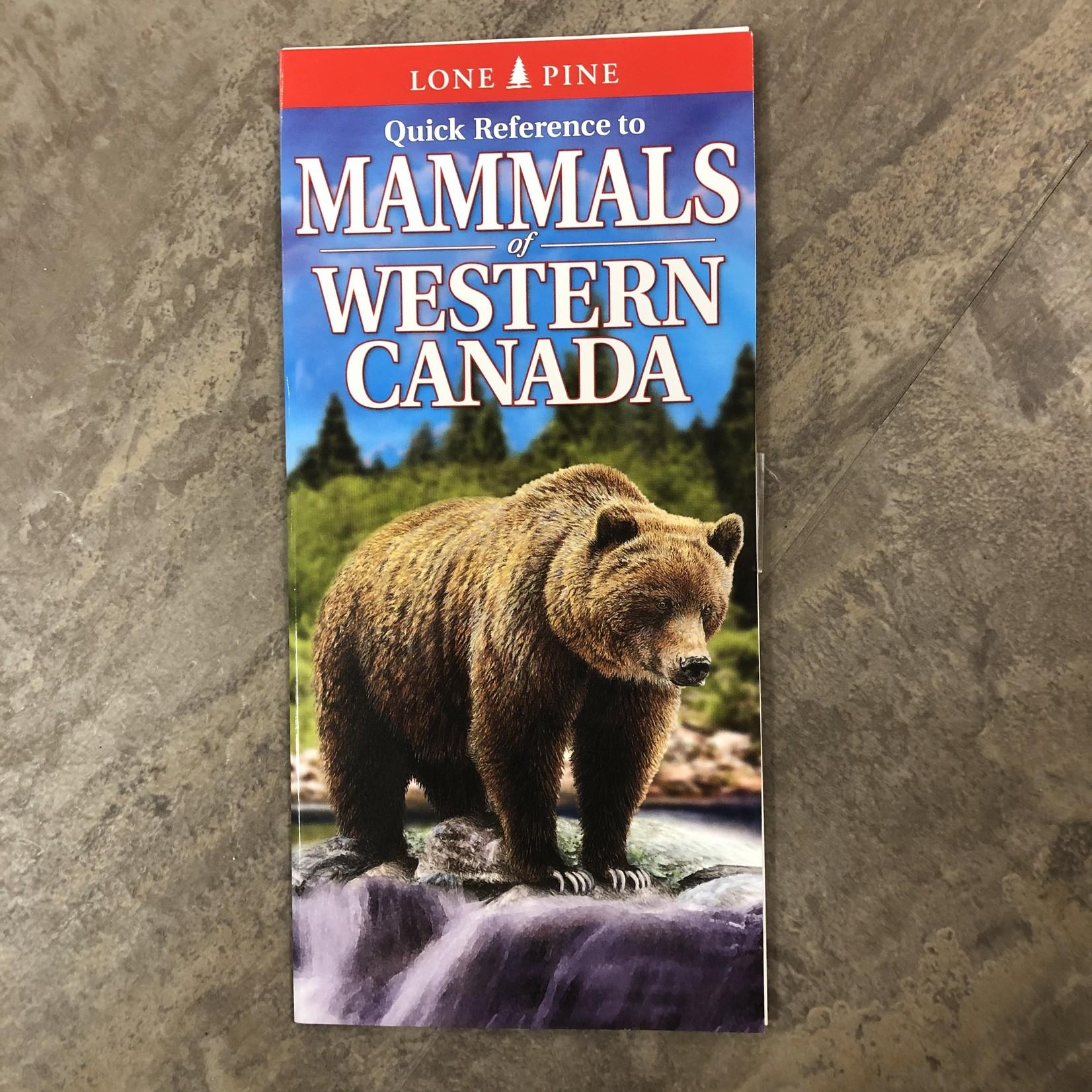 Folding Pocket Guide: Mammals of Western Canada