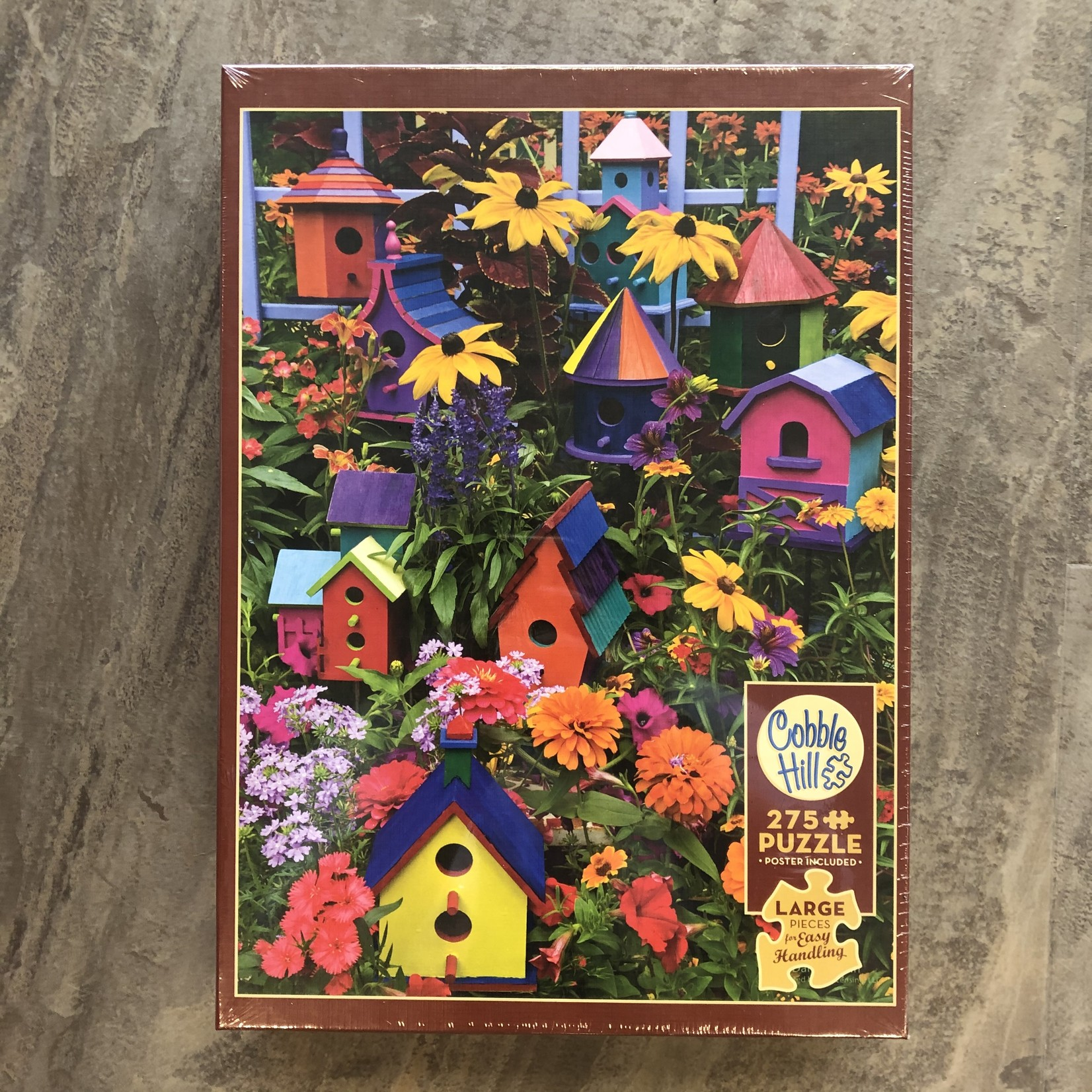 Cobble Hill Puzzles Bird Houses - Easy Handling Puzzle