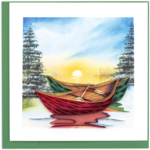 Quilling Card - River Canoes