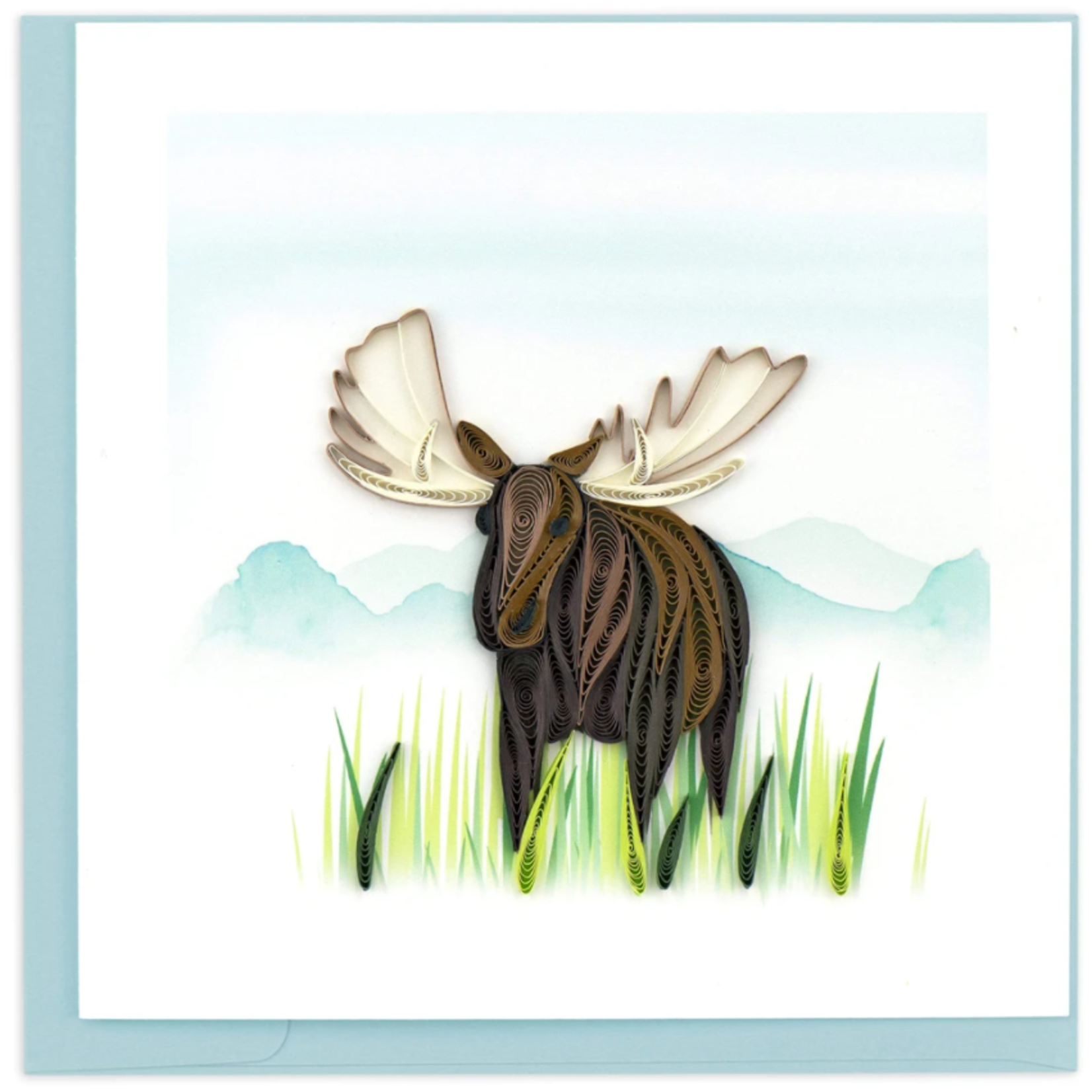 Quilling Card - Moose