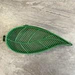 Green Leaf Shaped Mesh Feeder