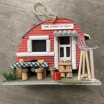 Red Trailer Bird House