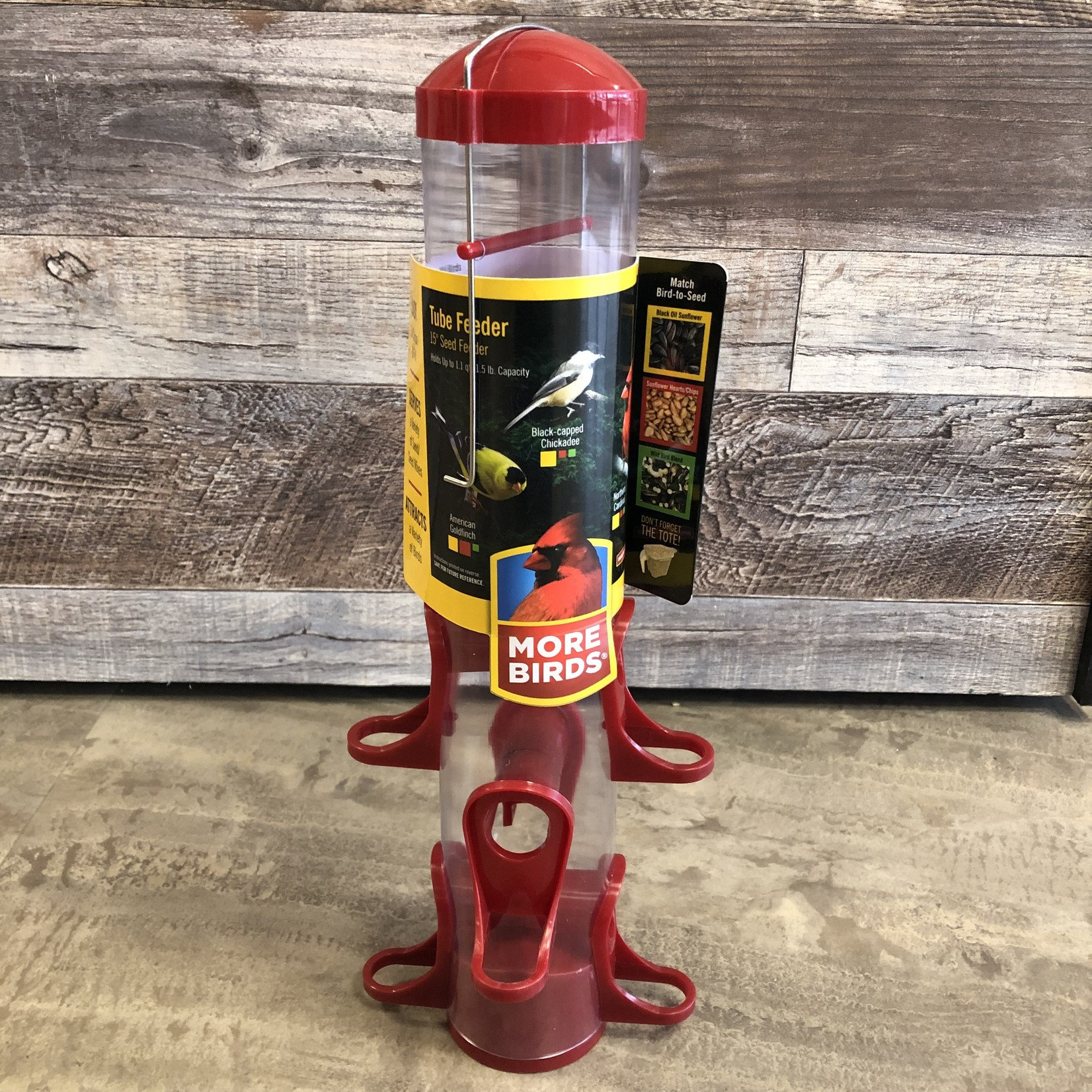 Seed Tube Feeder - Red