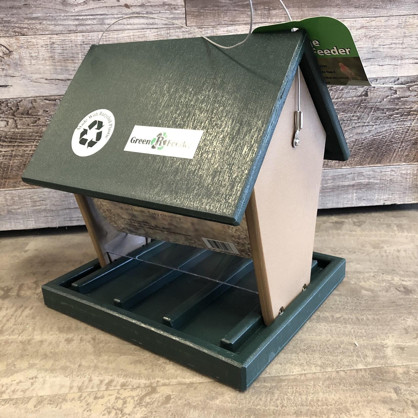 Songbird Essentials Recycled Hopper Feeder - Large