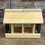 Double Option Wooden Hopper Feeder